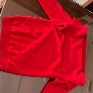 Red Cashmere off shoulder long sleeve